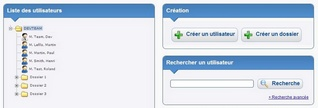 Interface de gestion Patients